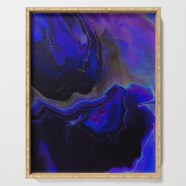 Dark Purple Blue Galaxy - Midnight Shades Serving Tray