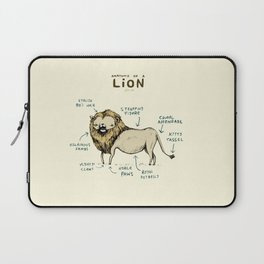 Anatomy of a Lion Laptop Sleeve