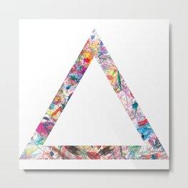 Colorful Triangle Metal Print
