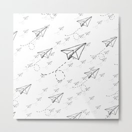 Paper Airplane 9 Metal Print