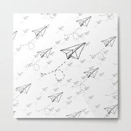 Paper Airplane 9 Metal Print