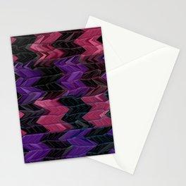 Dark Chevron  Stationery Cards
