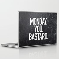 xbox Laptop & iPad Skins featuring Monday You Bastard by Text Guy