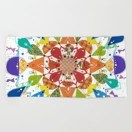 Rainbow Mandala Beach Towel
