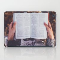 bible verse iPad Cases featuring Bible by Johnny Frazer