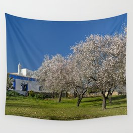 An Algarve almond orchard in Spring Wall Tapestry