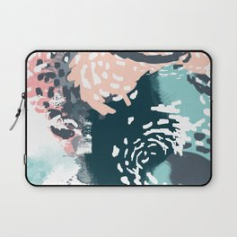 August - Abstract modern painting in bold colors for trendy feminine style Laptop Sleeve