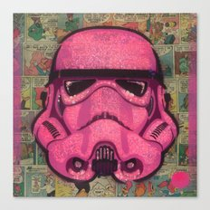 Trooper Pink Canvas Print
