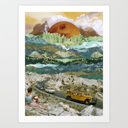 Bright sun valley Art Print
