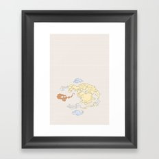The Lay of the Land Framed Art Print