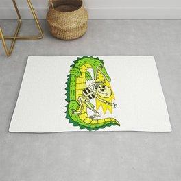 Lucha verde limón Rug