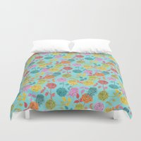 roses Duvet Covers featuring ROSES by Bianca Green