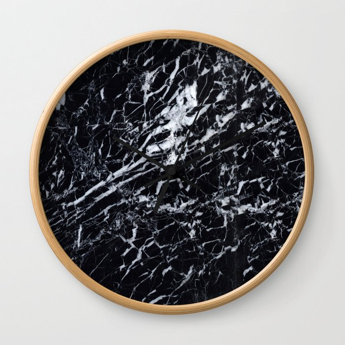 Marble Black Texture Wall Clock