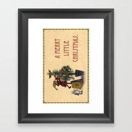 A Merry Little Christmas! Framed Art Print