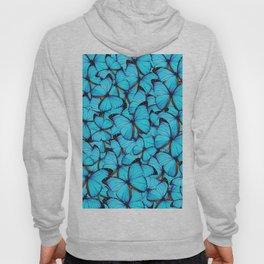 Blue Butterflies Hoody