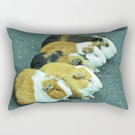 Animals on the road playing. Rectangular Pillow