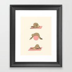 Sloth pilates Framed Art Print