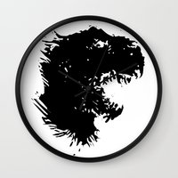 trex Wall Clocks featuring t-rex by barmalisiRTB