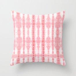 Tiki Shibori Pink Throw Pillow