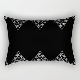 Spikes (Black) Rectangular Pillow