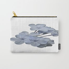 Pale Blue Plumbago Isolated on White Background  Carry-All Pouch