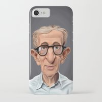 celebrity iPhone & iPod Cases featuring Celebrity Sunday ~ Woody Allen by rob art | illustration