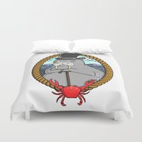walrus Duvet Covers featuring The Walrus  by Christine Valentine
