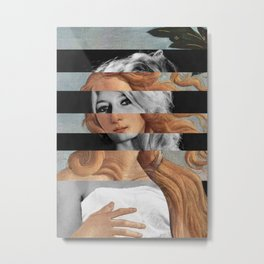 "Botticelli's ""Venus"" & Brigitte Bardot Metal Print"