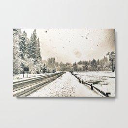 Yosemite Snowy Meadow Metal Print