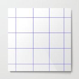 Blue Lines White Polygons Metal Print