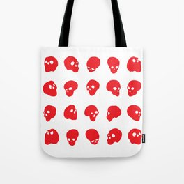 redhead - red on white Tote Bag