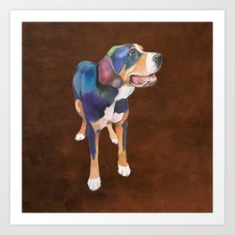Greater Swiss Mountain Dog Art Print