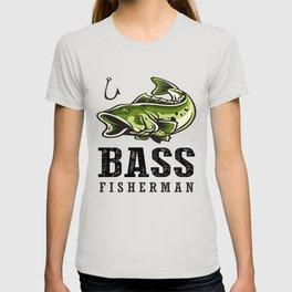 Loudmouth Sea Bass Fisherman's Fishing Fish Men's Fishermen T-shirt