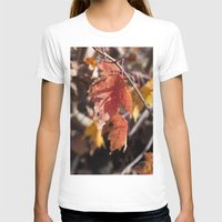 manchester T-shirts featuring Fall in Manchester, NH by Abby Hoffman