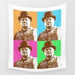 Scrabble Winston Churchill x 4 Wall Tapestry