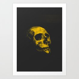 Yellow Skull Art Print