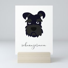 Schnauzer Mom Mini Art Print