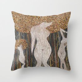 Roots 3.0 (Tree Woman) Throw Pillow