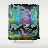 sail Shower Curtains featuring Rainbow Sail by BeachStudio