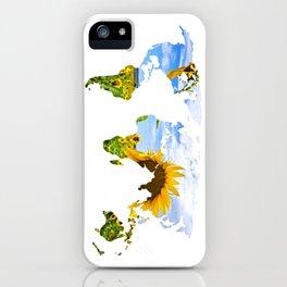World of Sunflowers iPhone Case