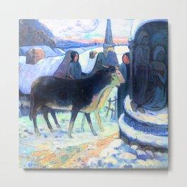 Gauguin Christmas Night Metal Print