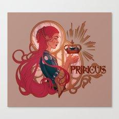 Enby royalty -  Princus Canvas Print