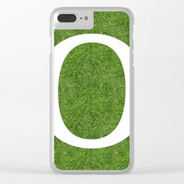O initial letter alphabet on the grass Clear iPhone Case