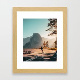 Yosemite Skater Framed Art Print