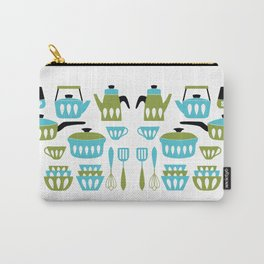 My Midcentury Modern Kitchen In Aqua And Avocado Carry-All Pouch