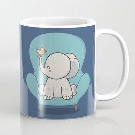 Kawaii Cute Elephant On A Couch Coffee Mug