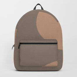 Brown Clay Minimal Half Circle Design 2021 Color of the Year Canyon Dusk & Brazilian Citrine Backpack