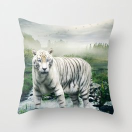 Lonely Tiger 1 Throw Pillow