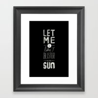 blister in the sun Framed Art Print