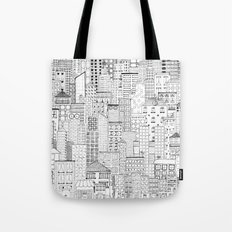 City Doodle (white) Tote Bag